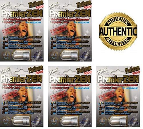 (PremierZen Platinum Male Sexual Performance Enhancer - Authorized Dealer 5 Pills)