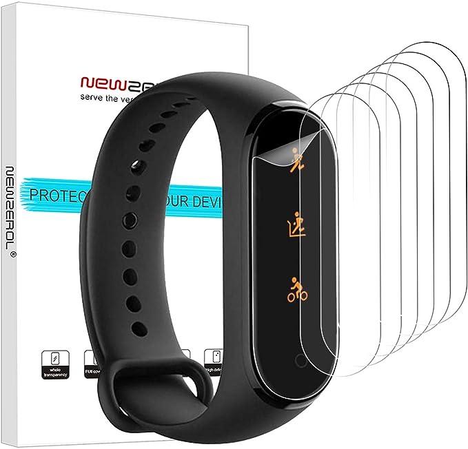 NEWZEROL Protector de Pantalla 6 Pcs para Mi Band 4, Película Protectora Antihuellas Resistente a Los Rasguños de Alta Definición TPU para el Reloj Xiaomi Mi Band 4: Amazon.es: Electrónica