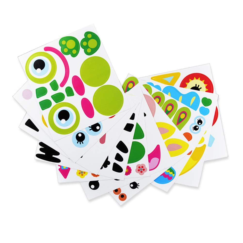 Healifty Party Paper Plates DIY Hand Painting Toys for Children