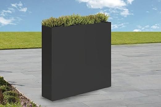Jardinera Jarrón biombos exterior chapa de zinc Antracita 95/85/23 cm resistente a la intemperie: Amazon.es: Jardín