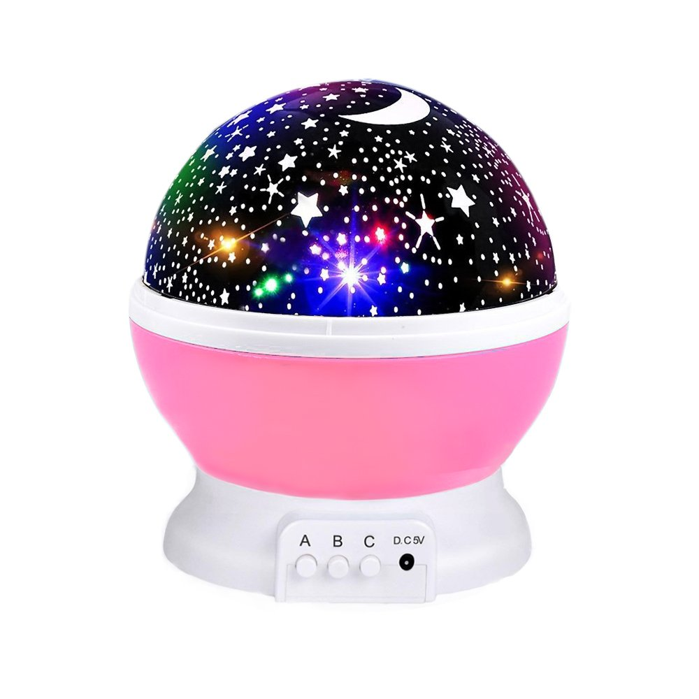 Star Night Lighting for Girls, Starry Light Rotating Projector Moon Sky Night Light Projection Lamp 3-12 Year Old Girl Toys 3 4 5 6-12 Year Old Girl Gifts Pink by CANDA