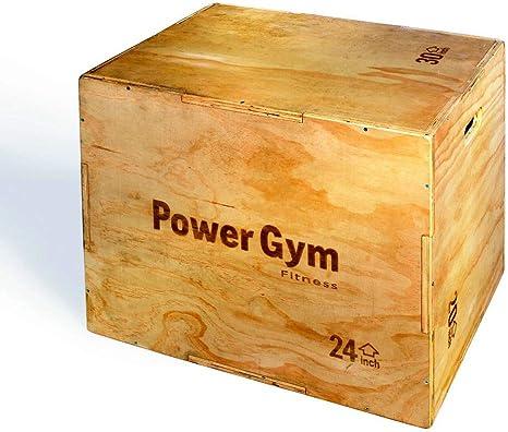 Madera pliométrico caja 3 en 1 – powergym Fitness: Amazon.es: Deportes y aire libre