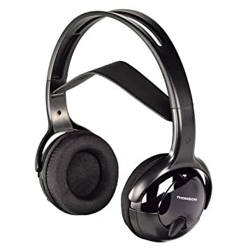 Thomson WHP1211 - Auriculares inalámbricos (32 Ohm, alcance 10 m, jack stereo 3.5 mm, 107 dB) negro: Amazon.es: Electrónica