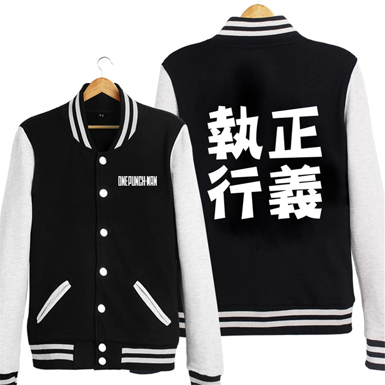 Bromeo One Punch Man Anime Unisex Baseball Uniform Long Sleeve Jacket Coat