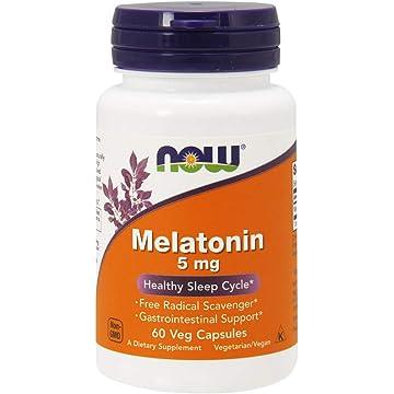 NOW Melatonin 5 mg,60 Veg Capsules. NOW Foods