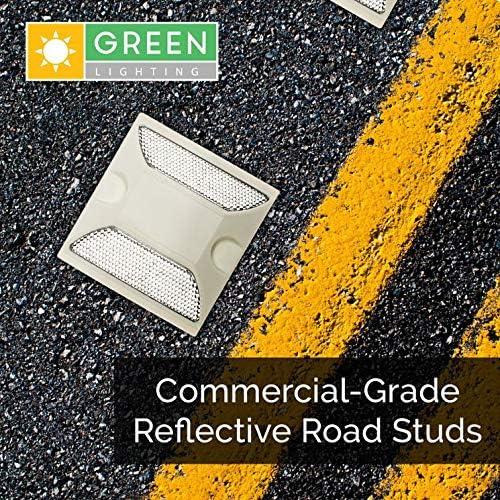 20xYellow Plastic Reflective Road Pavement Marker Driveway Reflector
