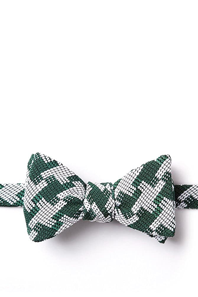 Buckeye Thick Green Cotton Bow Tie
