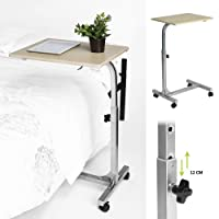 Aingoo Tavolino con ruote, per letto e divano, pieghevole, colore: Beige