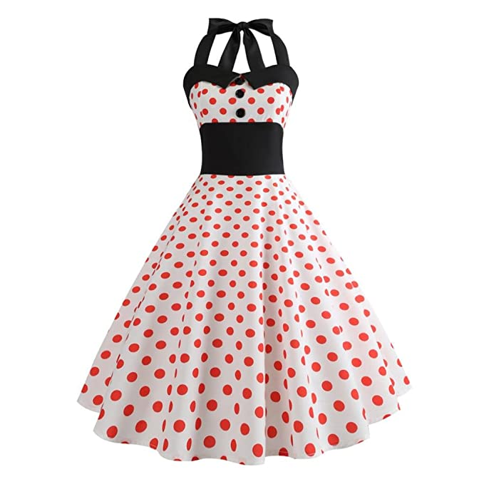 8b5da623f95cd Pingtr 1950s Vintage Rockabilly Dresses for Women