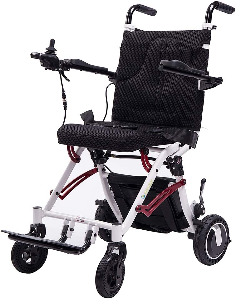 ELENKER 2020 Electric Wheelchair, Lightweight Foldable Power Wheel Chair for Outdoor Home