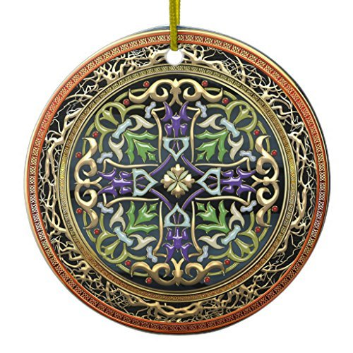 88BoydBertha Christmas Hanging Ornament [200] Treasure Trove: Celtic Cross Ceramic Ornament ()