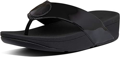 Amazon.com   FitFlop Demelza Logo Toe-Thong All Black 8 M (B)   Flip-Flops