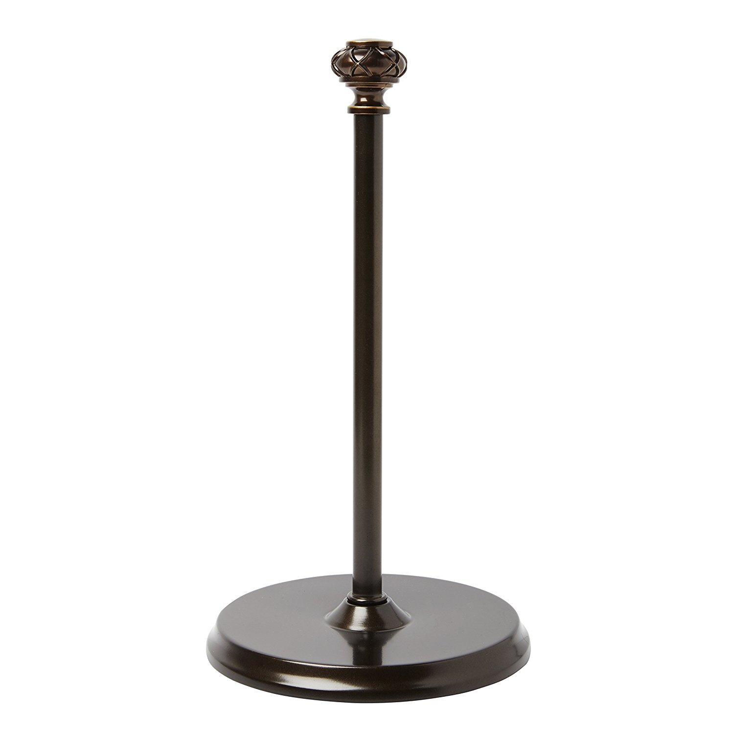 Paper Towel Holder - Umbra Loft Design Freestanding Towel Paper Holder – Elegant Bronze Finish - Heavy Duty to Pull Sheets with One Hand – Fits Most Towel Paper Roll Sizes - Non-Slip Grip Base for Kit