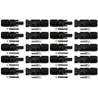 20 Piezas De Paneles Solares Adaptadores De Cable