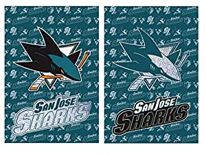 San Jose Sharks Two Sided Glitter Accented Garden Flag