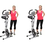 Exerpeutic Folding Magnetic Upright Bike with Pulse (2-BIKES)