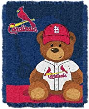 Officially Licensed MLB Field Bear Baby Woven Jacquard Throw Blanket, Soft & Cozy, Washable, Throws &