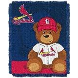The Northwest Company MLB Field Bear Woven Jacquard Baby Throw