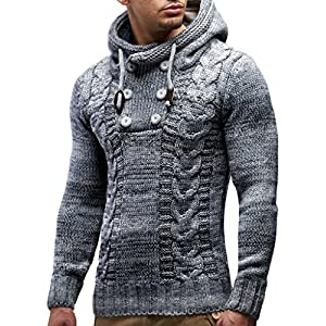 Leif Nelson Men's Pullover Knit Sweater LN-20227