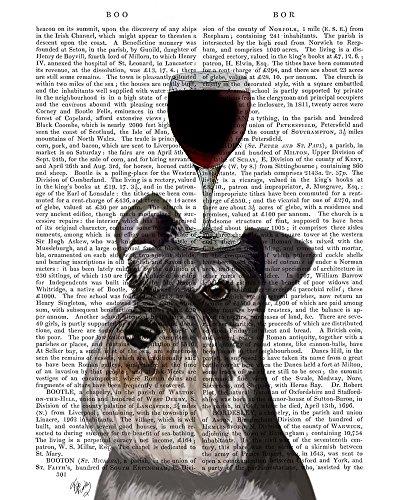 Dog Au Vin, Schnauzer by Fab Funky Art Print, 11 x 14 inches