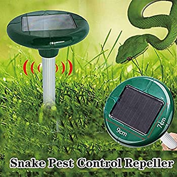 WoSports® Solar Ultrasonic Mole Rodent Snake Repeller Pest Control for Outdoor Garden Yard 2 Pack (Snake Pest Control Repeller)