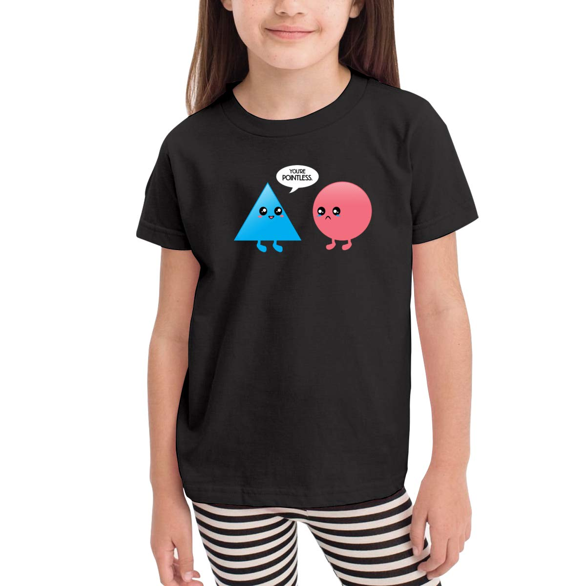 Onlybabycare Youre Pointless Black Cotton T Shirt Lightweight Breathable Solid Tee for Toddler Boys Girls Kids