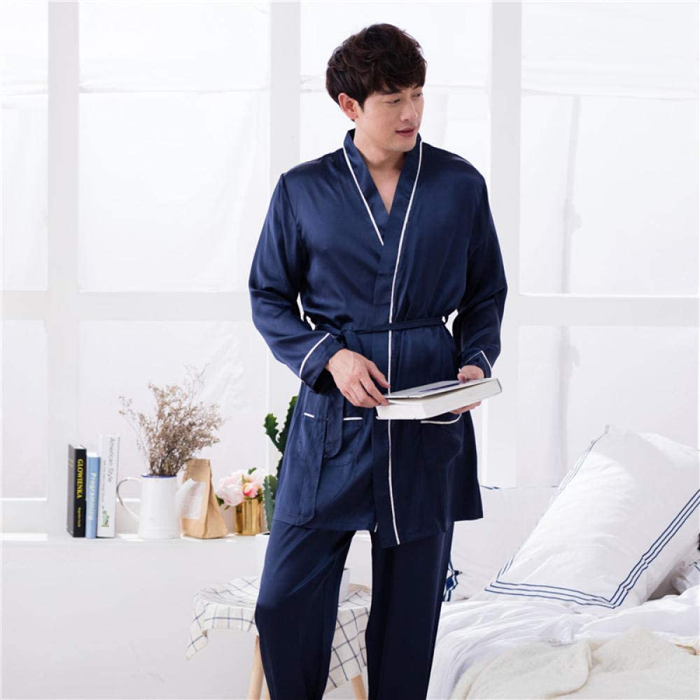 Albornoz Hombre Ducha Algodon Pijamas De Seda De Gran Tamaño para ...