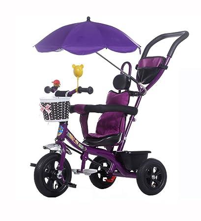 Triciclos Niños Triciclo Cochecito Bebé Plegable/UV/Inflable Rueda de Bicicleta 1-5