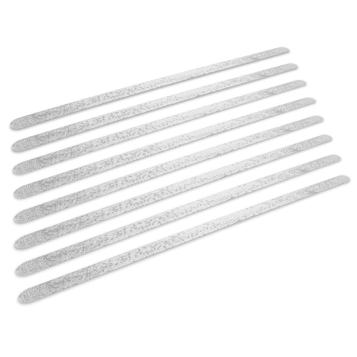 Navaris Non Slip Bathtub Strips - Set of 8, Transparent - Anti-Slip Adhesive Safety Sticker Grip Tape Decal Appliques for Bath, Shower, Stairs, Tub KW-Commerce 45671.02_m001259