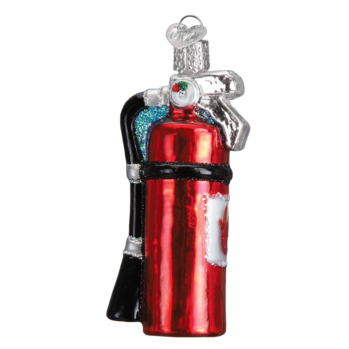 Old World Christmas Glass Blown Ornament Fire Extinguisher 32296