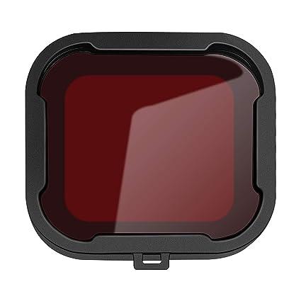 uu19ee Cámara Traje Negro Caja de la Carcasa Cubierta de la Lente del Filtro de Buceo Submarino Filtro UV para GoPro Hero 4 3+