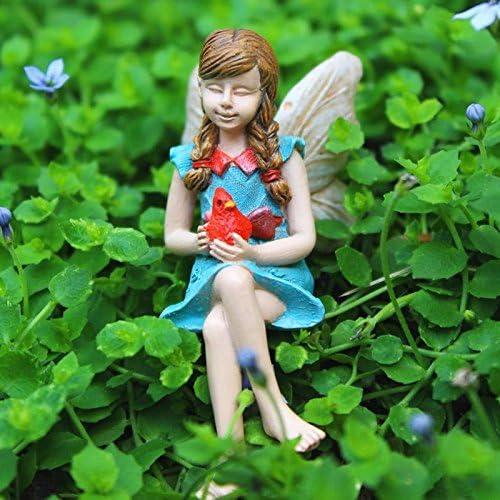 Mini hada de jardín de hadas robin (NIP) – My Mini jardín Dollhouse accesorios para decoración de exteriores o casa: Amazon.es: Jardín