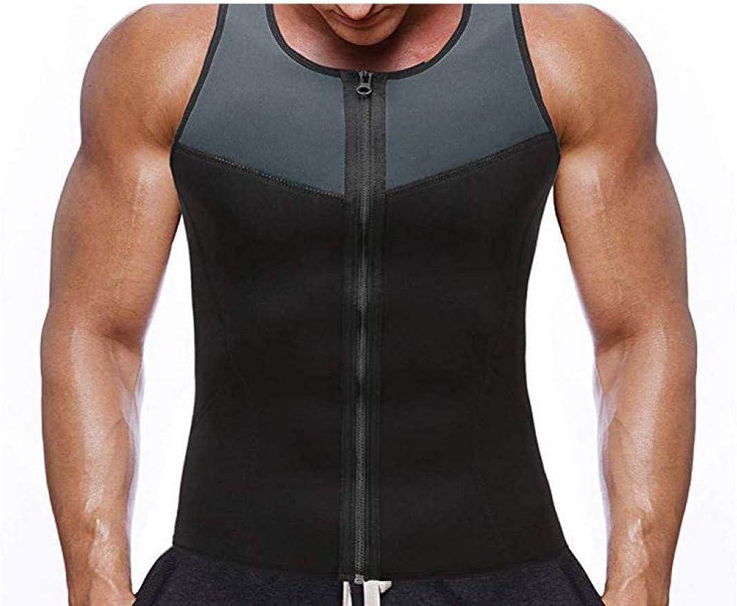 Cremallera de Neopreno Camisa Moldeadora para Hombre Camisetas sin Mangas adelgazantes Entrenador de Cintura Ajustada Chaleco de Entrenamiento Pérdida de Peso: Amazon.es: Ropa y accesorios