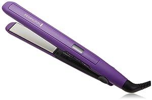 Remington S-5500 Digital Anti Static Ceramic Hair Straightener, 1-Inch, Purple (Renewed)