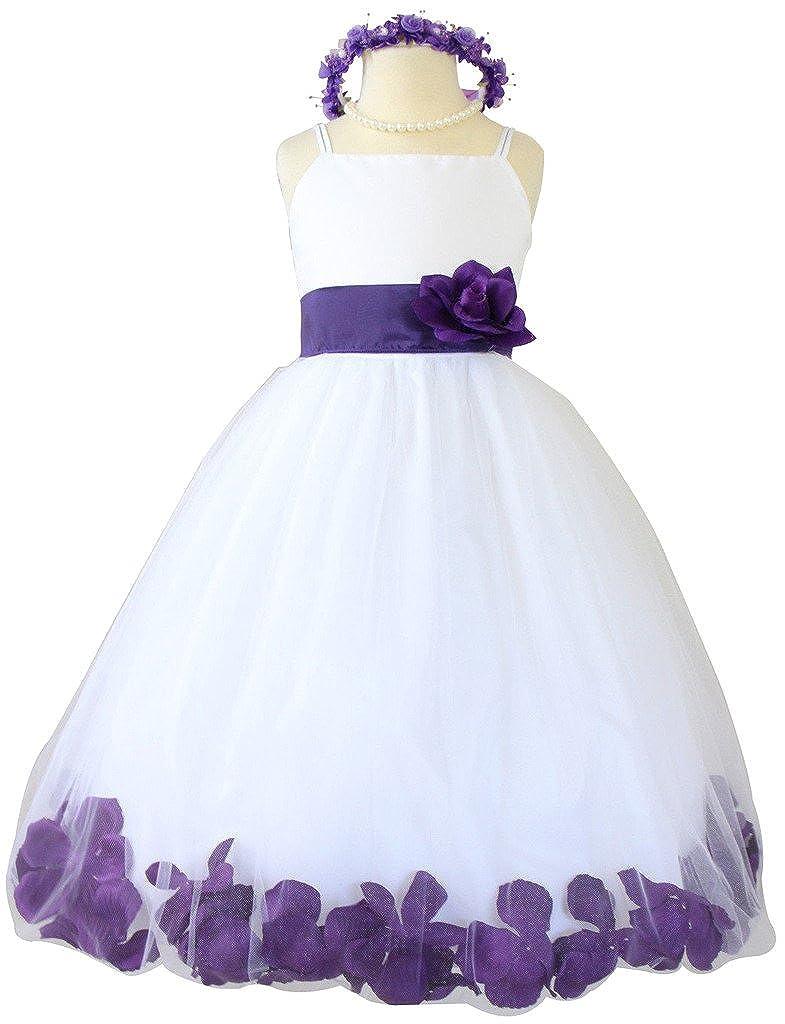 8bb0632be Amazon.com: Flower Girl Dress Rose Petal Paperio Easter Wedding Girl White ( Baby - 14): Clothing