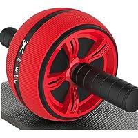 SuperV AB Wheel Roller Addominale Lombare Esercizio con Extra Spessa Ginocchiera Tappetino Allenamento Fitness Ginnico per Palestra, Blue