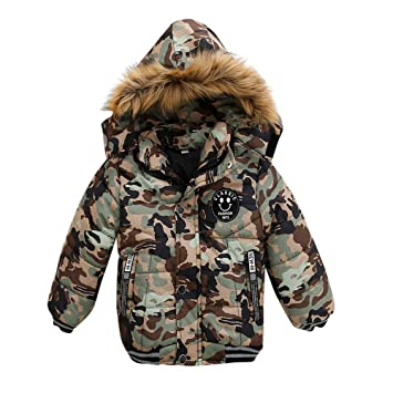 67bfe3bf3 Amazon.com  Baby Boys Girls Hooded Coat Long Sleeve Camouflage ...