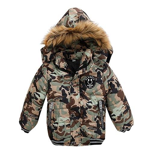 d411e32d743a Amazon.com  Kids Baby Coat Boys Girls Thick Warm Zip Coat Padded ...