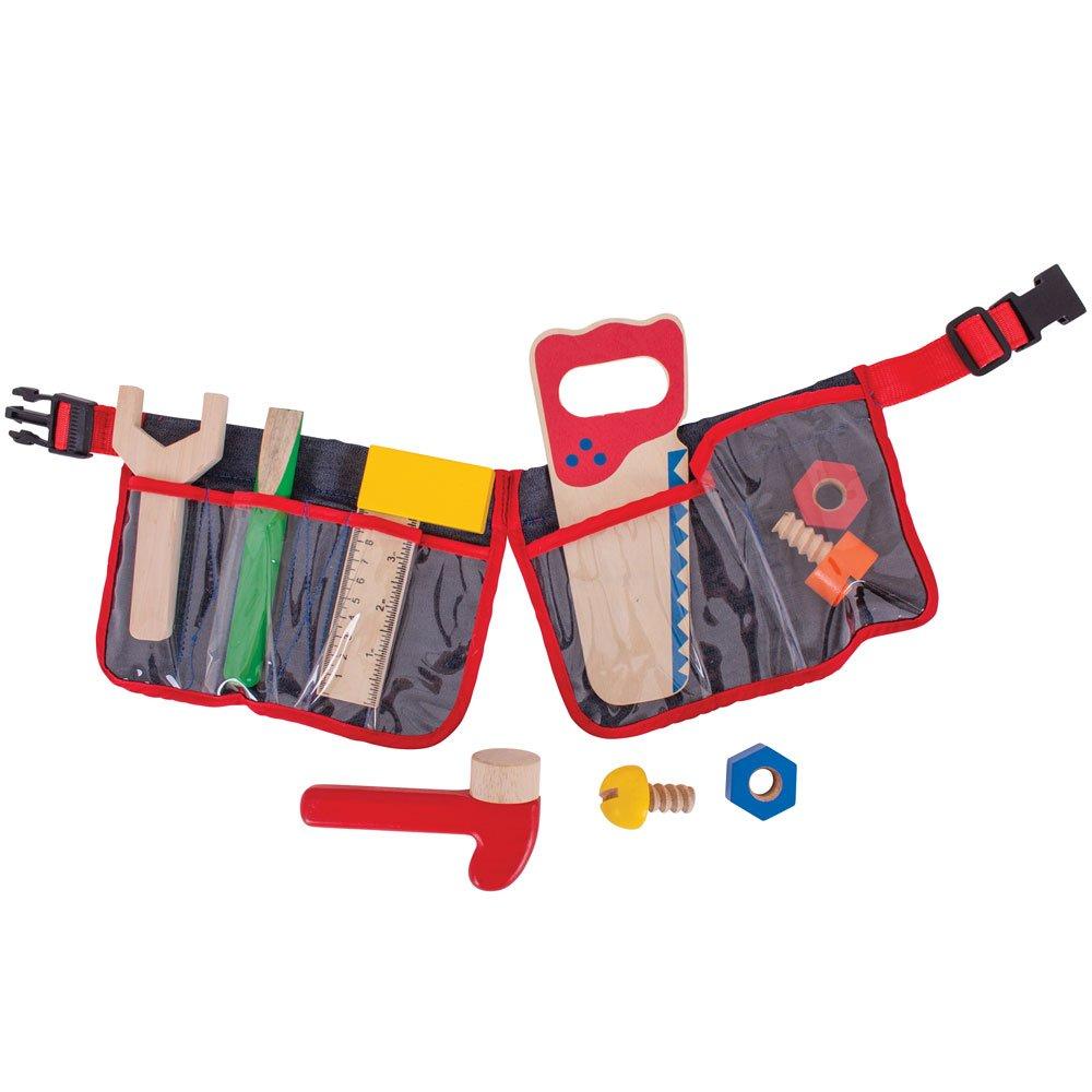 Kinder Werkzeuggürtel - Bigjigs Toys Roter Werkzeuggürtel