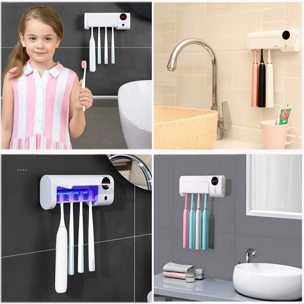 Qhand UV Toothbrush Sanitizer Toothbrush Organizer for Ladies Men ...