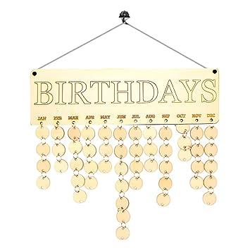 Weihnachten Datum.Amazon De Gazechimp Weihnachten Geburtstag Jahrestag Brett Kalender