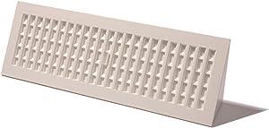 Decor Grates PL18BB-WH 18-Inch Plastic Baseboard Register, White