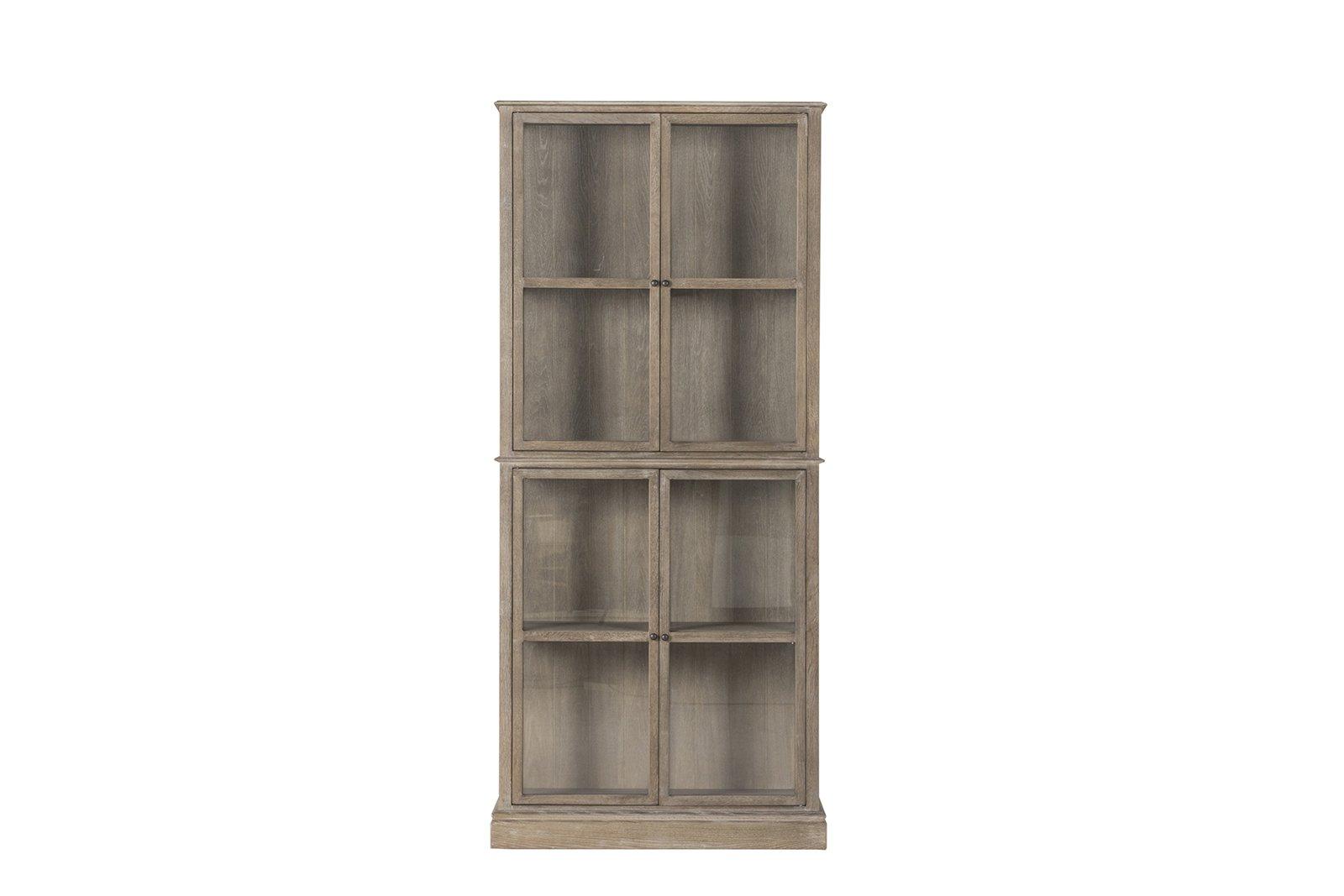 Flamant Frederik Glass Door Cabinet, Russet Oak