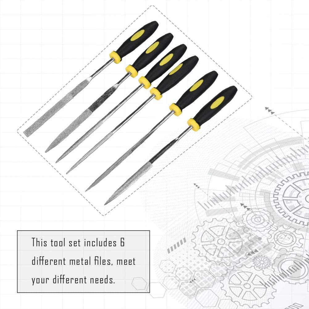 6pcs//Set Woodworking Mini Files 3x150mm Metal Filing Wood Tool Hand Woodworking Rasp Needle File Woodworking Tools