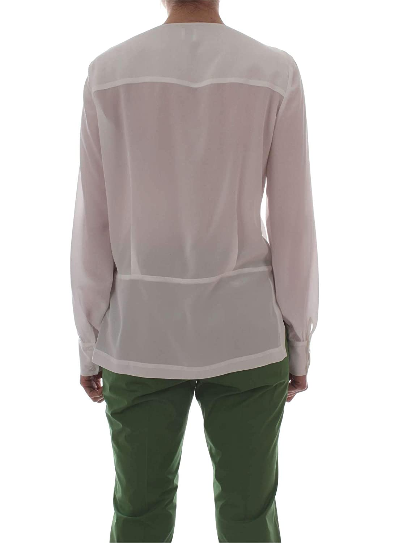 Pinko Womens 1G14187312Z09 White Silk Blouse