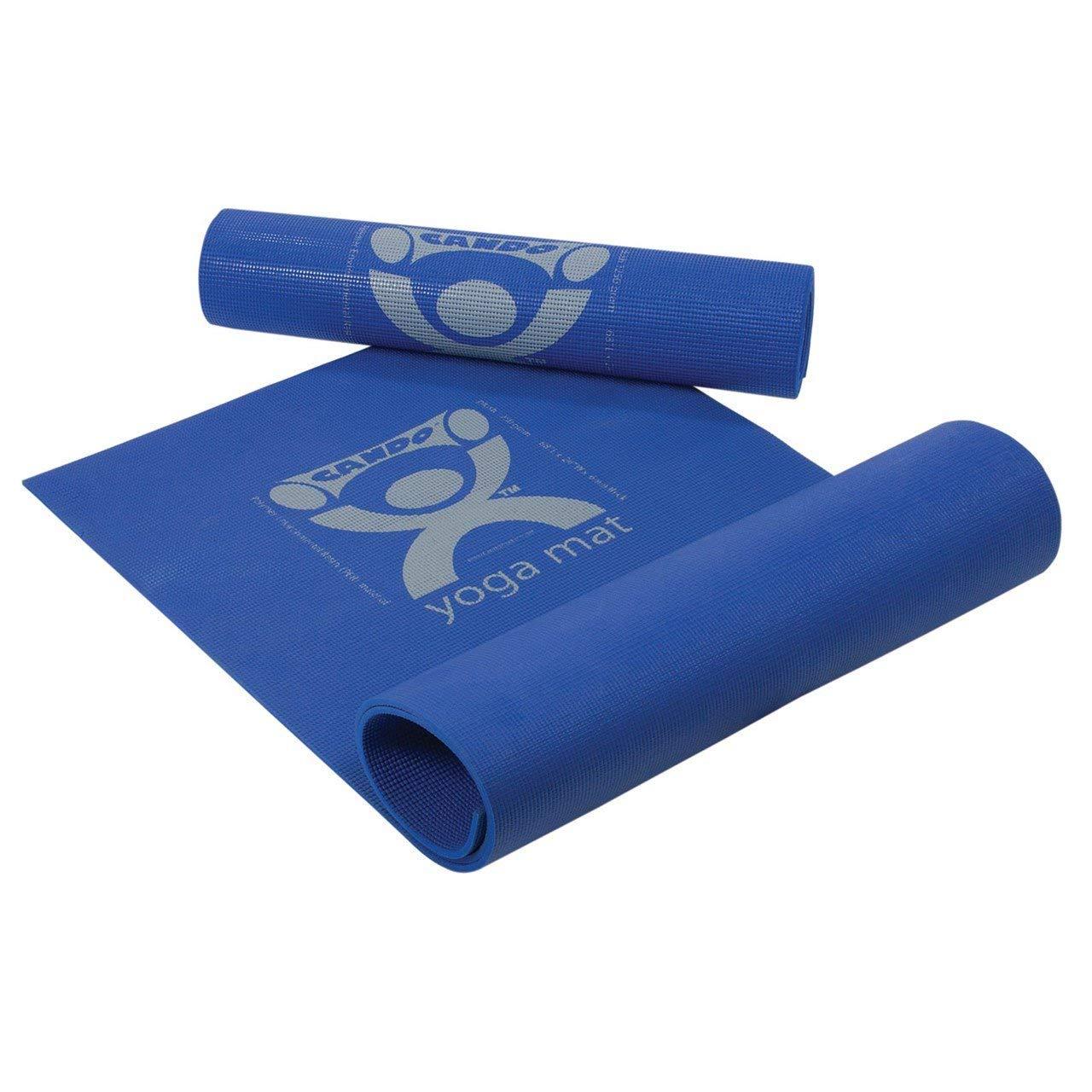 "CanDo 30-2401B Exercise Polymer Environmental Resin Yoga Mat, 68"" x 24"" x 0.25"", Blue"