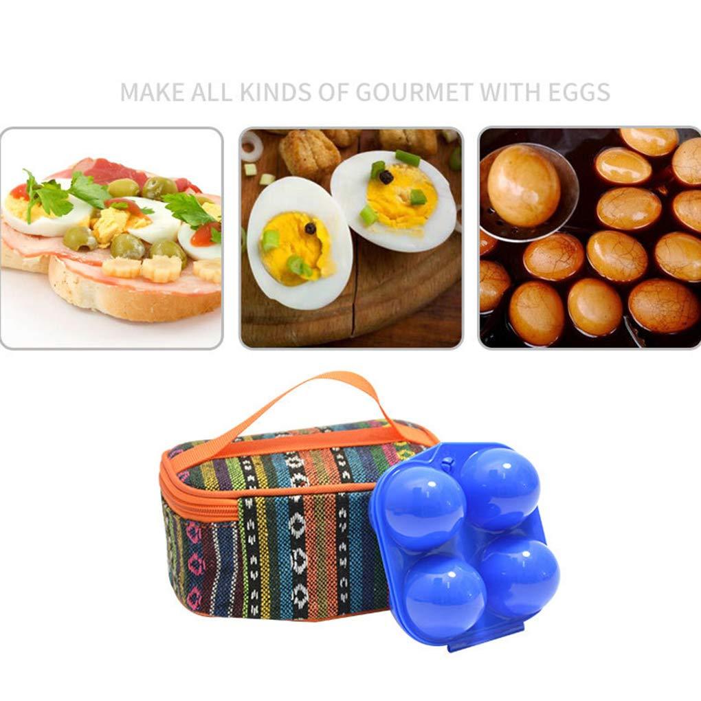 Floridivy 4 Eier aus Kunststoff Ei-Beh/älter ABS Beweglich Outdoor-Camping-Picknick-Grill Shockproof Ei-Halter-Beh/älter-Aufbewahrungsbeh/älter