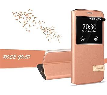 b58383dac25 USAMS MUGE Funda con tapa para Galaxy S7 Edge, con ventana, para Samsung  Galaxy S7 edge: Amazon.es: Electrónica