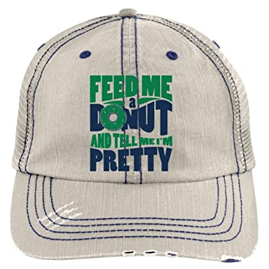67b8557a I Love Donut Hat, Feed Me A Donut Trucker Cap (Trucker Cap - Putty) at  Amazon Men's Clothing store: