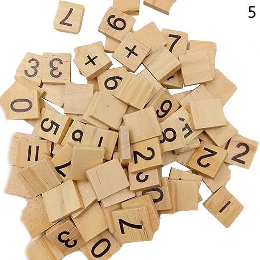 Say Hello 18 mm * 20 mm de madera para Scrabble letras del alfabeto artesanía wedding party decoración de madera los niños juguetes, E: Amazon.es: Hogar